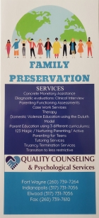 Quality Counseling Family Preservation Front