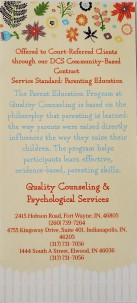 Quality Counseling Parent Edcuation Back